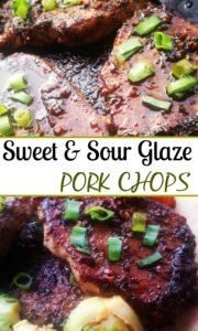 Sweet Sour Glazed Pork Chops